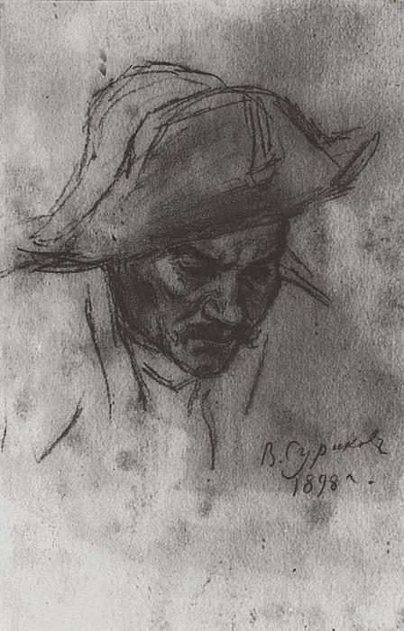 Голова солдата в треуголке. 1898. Василий Иванович Суриков