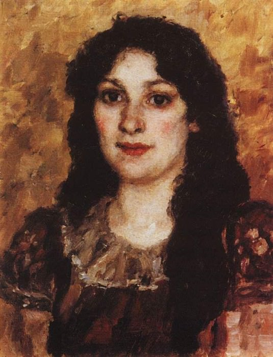 Portrait of Elizabeth Avgustovna Surikova, wife of the artist. 1888. Vasily Ivanovich Surikov