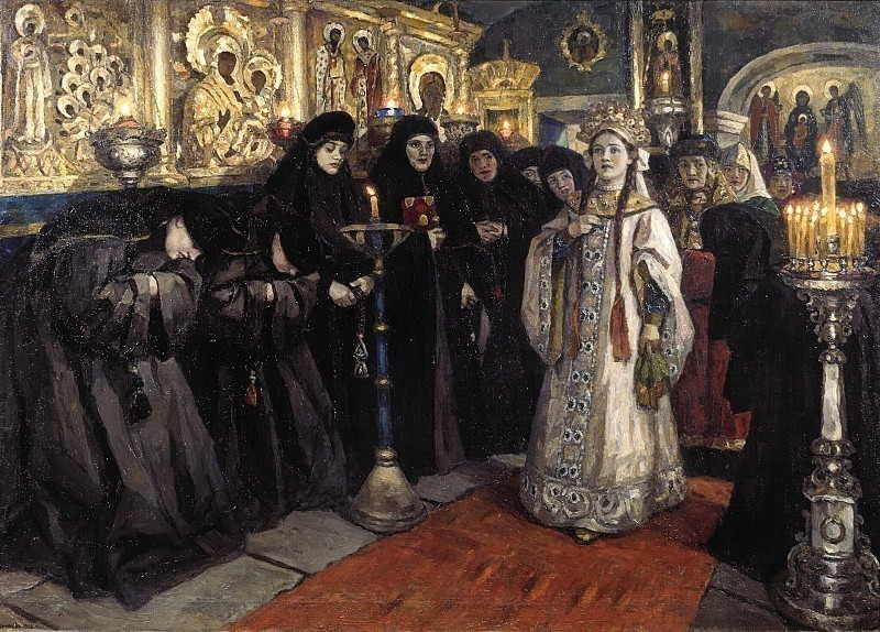 Visit to the princess of the convent. Vasily Ivanovich Surikov