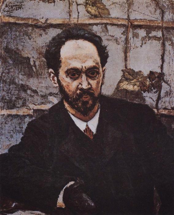 Portrait of IE Krachkovsky. 1884. Vasily Ivanovich Surikov