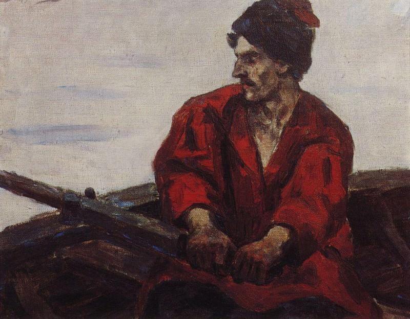 rower in the boat. 1912. Vasily Ivanovich Surikov