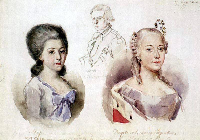 Portraits Menshikov. 1882. Vasily Ivanovich Surikov