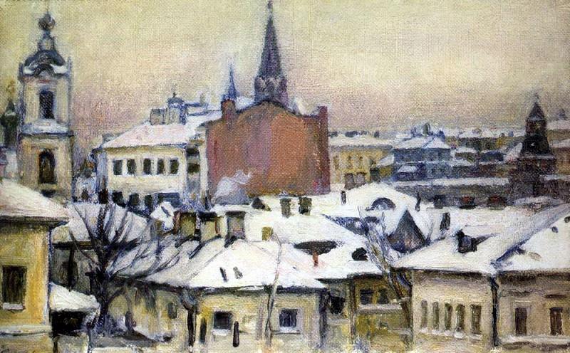 View on the Kremlin. 1913. Vasily Ivanovich Surikov