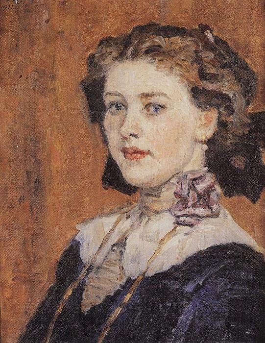 Portrait of a young woman. 1911. Vasily Ivanovich Surikov