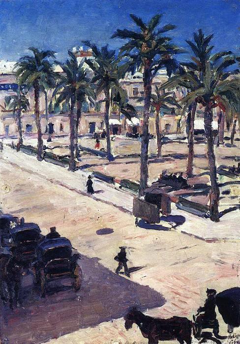 Area of San Fernando in Seville. 1910. Vasily Ivanovich Surikov