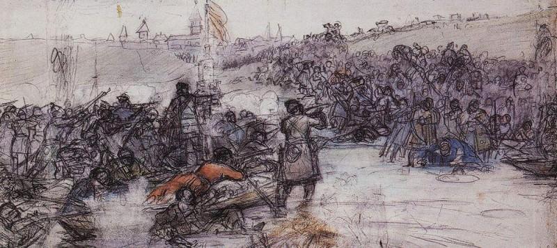 Покорение Сибири Ермаком 2. Около 1891. Василий Иванович Суриков