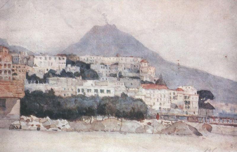 Неаполь. Везувий. 1884. Василий Иванович Суриков