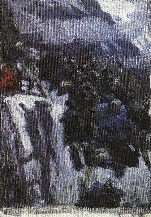 Suvorov Crossing the Alps in 1799 godu2. 1899. Vasily Ivanovich Surikov