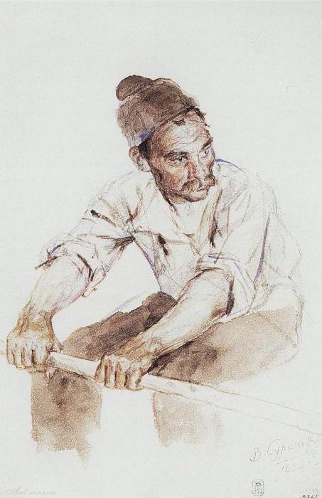 Казак-гребец. 1892. Василий Иванович Суриков