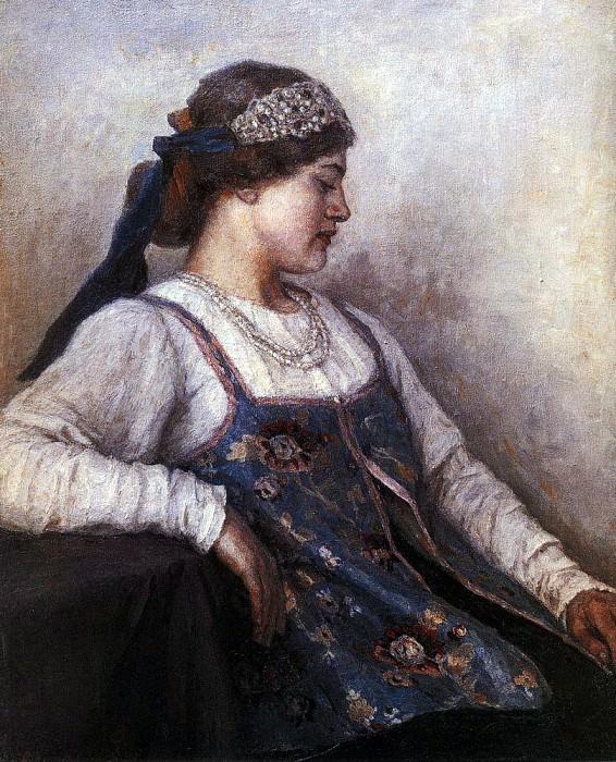 Портрет Н. Ф. Матвеевой. 1909. Василий Иванович Суриков