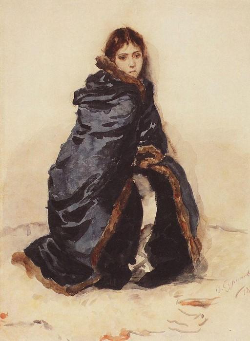 Старшая дочь Меншикова. 1882. Василий Иванович Суриков