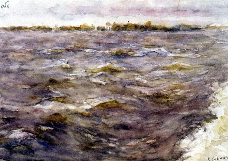 River Ob. 1895. Vasily Ivanovich Surikov