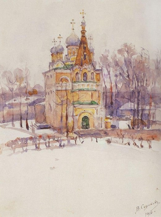 Church. 1910. Vasily Ivanovich Surikov