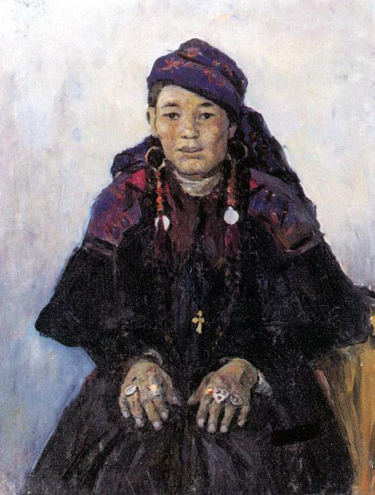 Portrait hakaski. 1909. Vasily Ivanovich Surikov