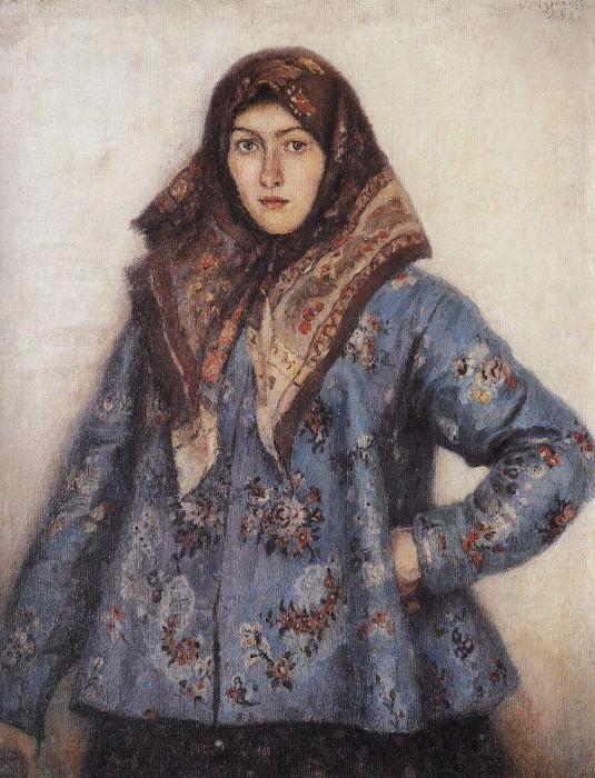 Портрет Л. Т. Маториной. Казачка. 1892. Василий Иванович Суриков