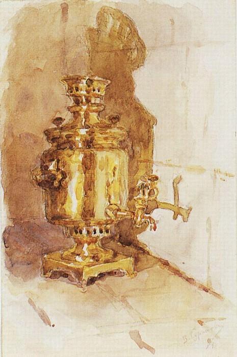 Samovar. 1876. Vasily Ivanovich Surikov
