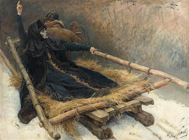 Боярыня Морозова в санях. Василий Иванович Суриков