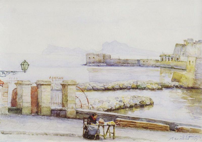 Naples. Quay. 1884. Vasily Ivanovich Surikov