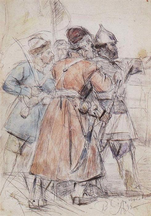 Ермак с казаками. 1894. Василий Иванович Суриков
