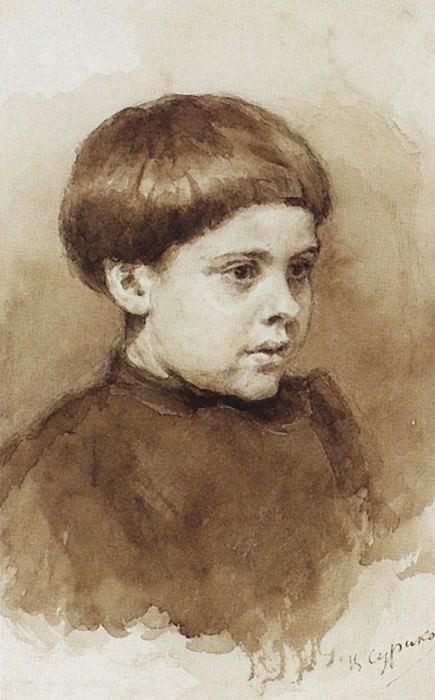 Portrait OV Surikova. 1880. Vasily Ivanovich Surikov