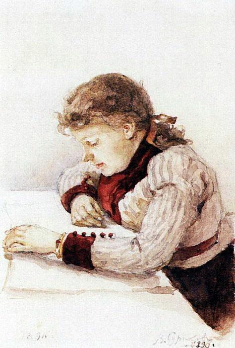 Портрет К. М. Верхотуровой. 1890. Василий Иванович Суриков