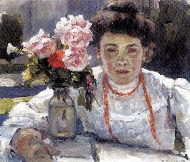 Портрет Е. В. Суриковой. 1908. Василий Иванович Суриков