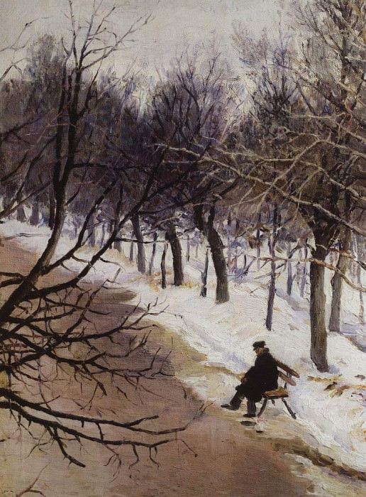 Zubovskiy boulevard winter. 1885-1887. Vasily Ivanovich Surikov