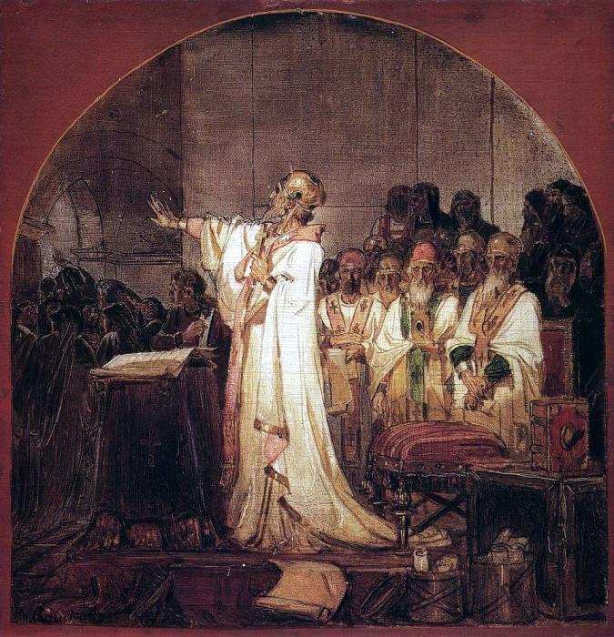 Third Ecumenical Council of Ephesus. 1876. Vasily Ivanovich Surikov