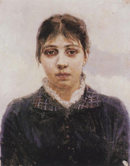 Portrait EA Surikova. Not later than 1888. Vasily Ivanovich Surikov