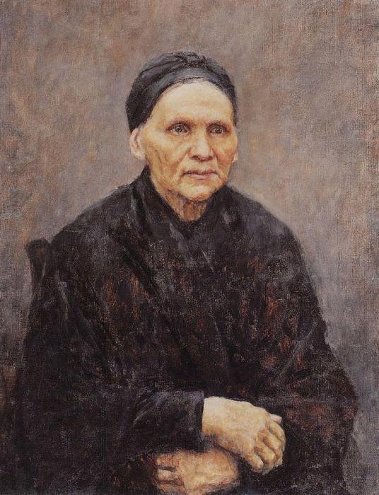 Портрет П. Ф. Суриковой (матери художника). 1887. Василий Иванович Суриков