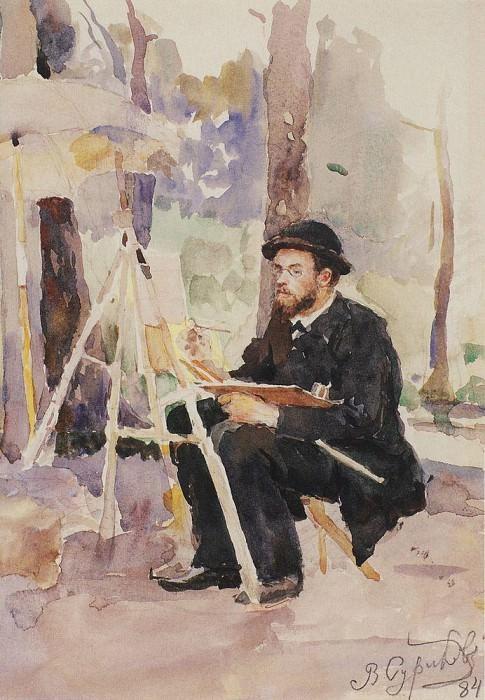 Портрет И. С. Остроухова. 1884. Василий Иванович Суриков