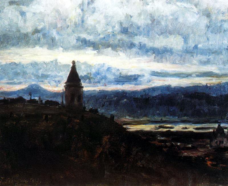 Вид Красноярска. 1887. Василий Иванович Суриков