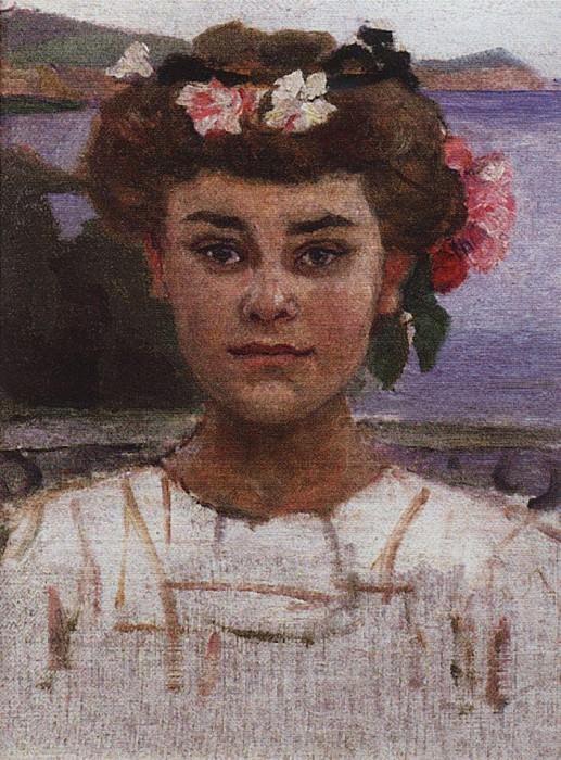 Головка девушки. Портрет З. С. Хаминовой. 1908. Василий Иванович Суриков