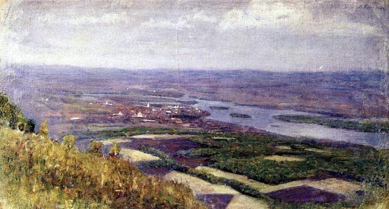 Вид на Красноярск с сопки. 1890-е. Василий Иванович Суриков