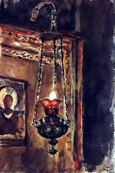 Lamp. 1881-1882. Vasily Ivanovich Surikov