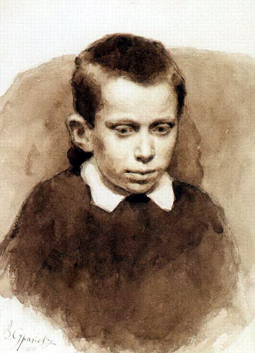 Portrait of Alexander S. Matveev in childhood. 1881. Vasily Ivanovich Surikov
