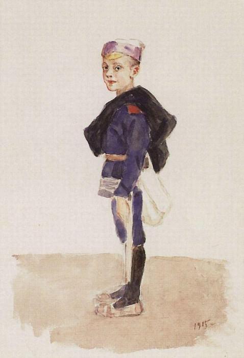 Портрет М. П. Кончаловского в детстве. 1915. Василий Иванович Суриков