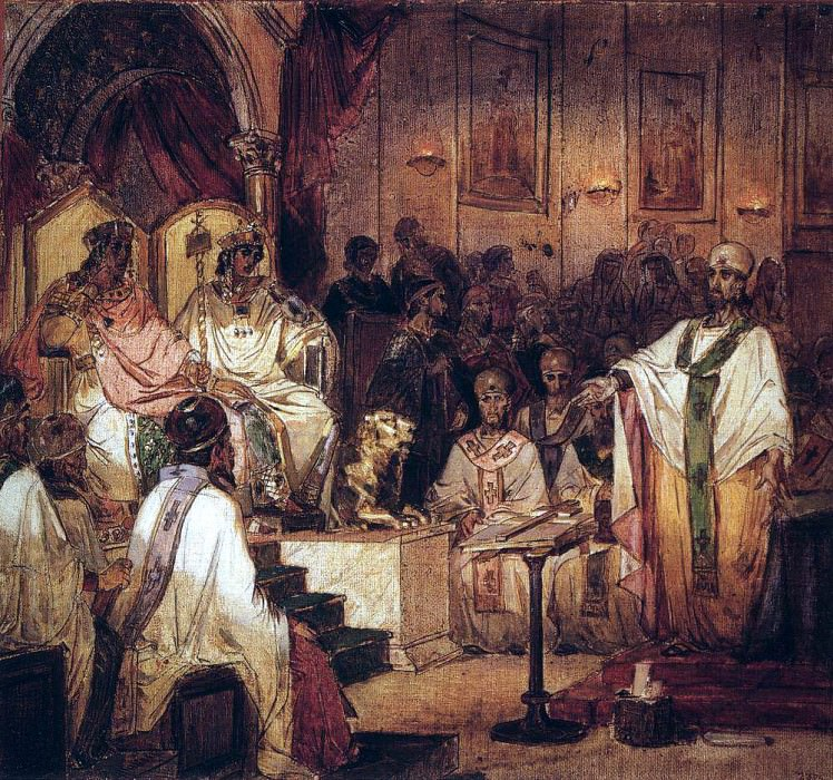 Fourth Ecumenical Council of Chalcedon. 1876. Vasily Ivanovich Surikov