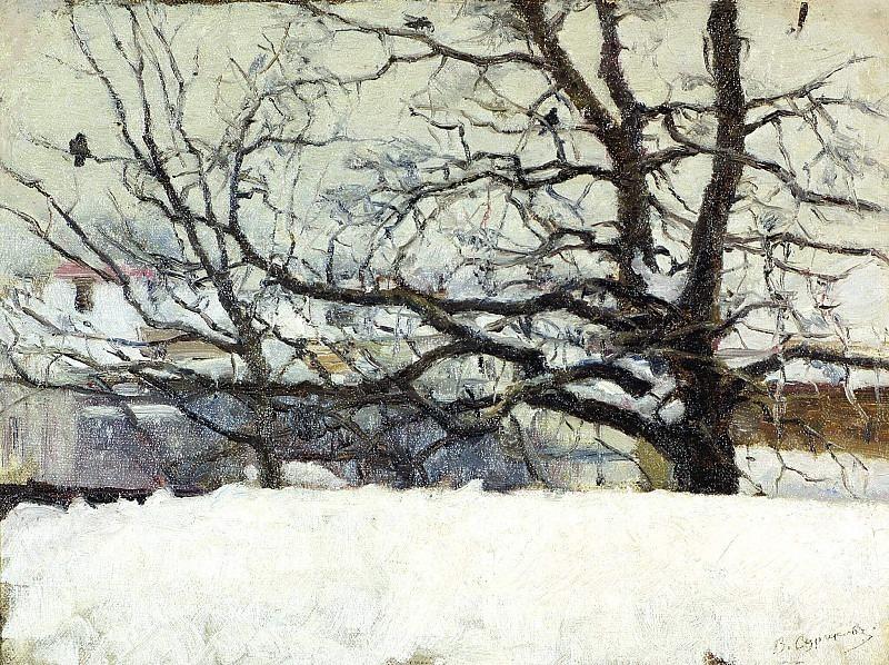 Winter in Moscow. Vasily Ivanovich Surikov