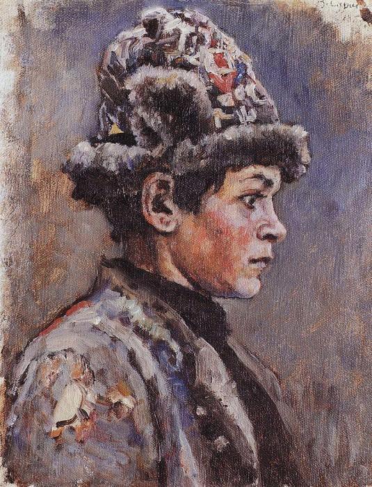 Задумавшийся подросток. 1885. Василий Иванович Суриков