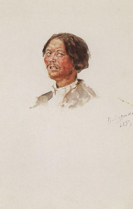 The head of this nation. 1893. Vasily Ivanovich Surikov