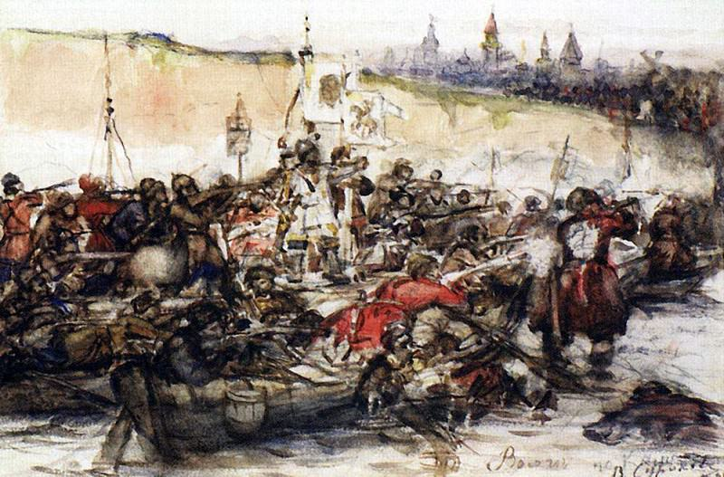 Conquest of Siberia by Yermak. 1891. Vasily Ivanovich Surikov