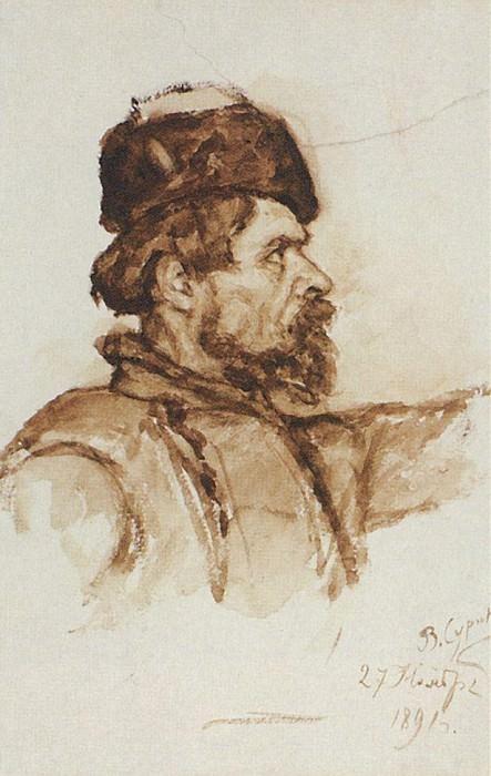 Голова казака. 1891. Василий Иванович Суриков