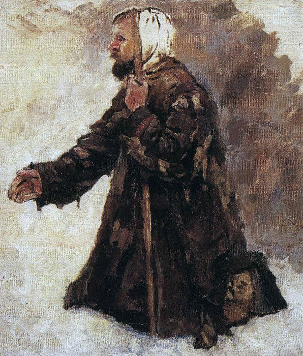 beggar on his knees. Not later than 1887. Vasily Ivanovich Surikov