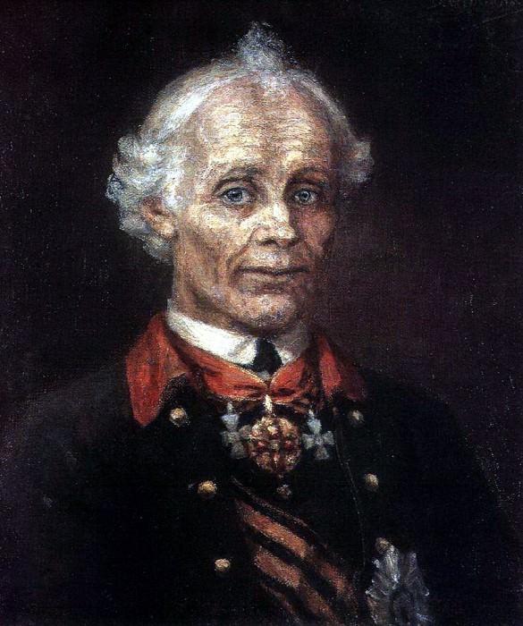 Portrait of Alexander Suvorov. 1907. Vasily Ivanovich Surikov