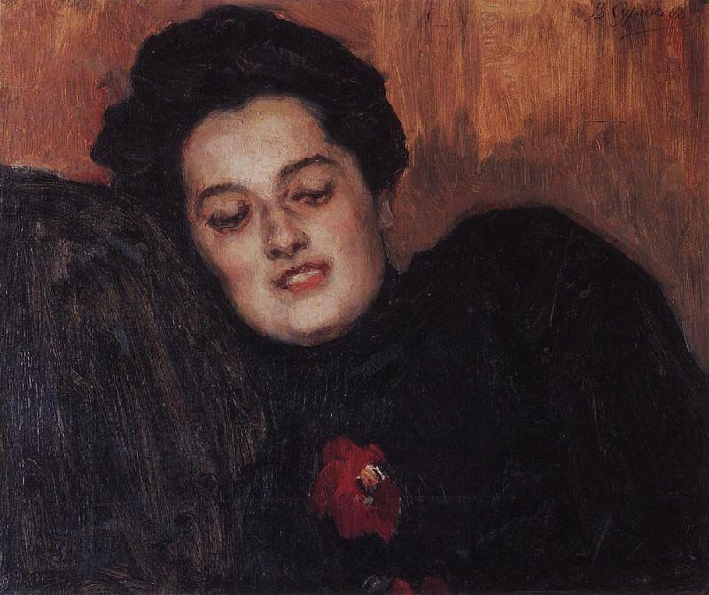 Портрет А. И. Емельяновой. 1909. Василий Иванович Суриков