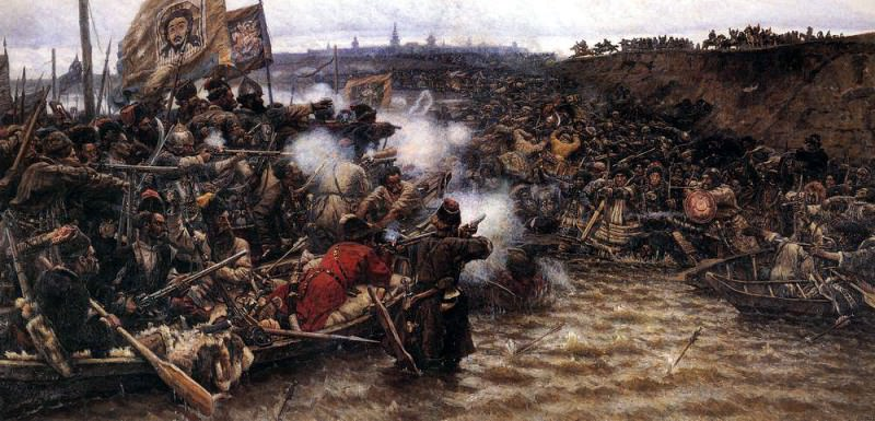 Conquest of Siberia by Yermak 2. 1895. Vasily Ivanovich Surikov