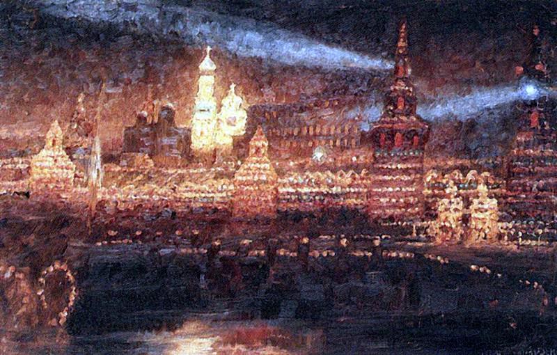 Иллюминация Москвы. 1882. Василий Иванович Суриков