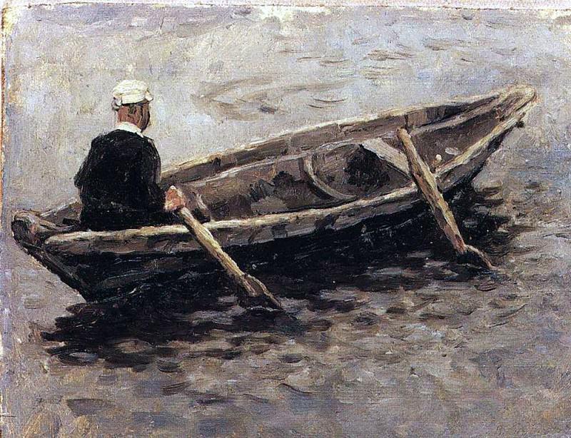 In the boat. Vasily Ivanovich Surikov