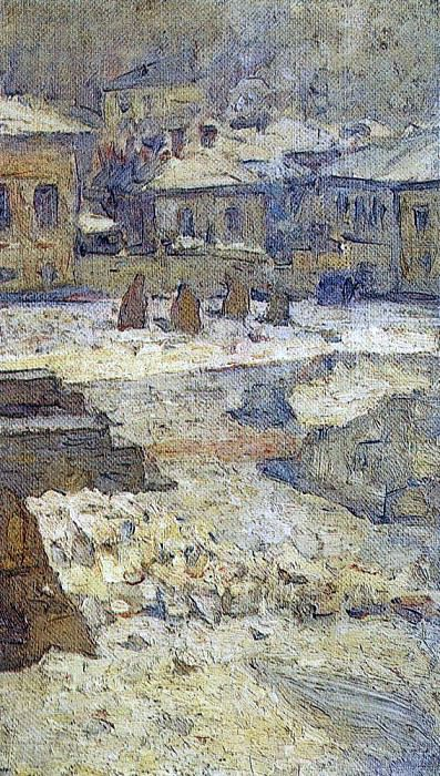 Сквер перед Музеем изящных искусств в Москве. 1910-е. Василий Иванович Суриков